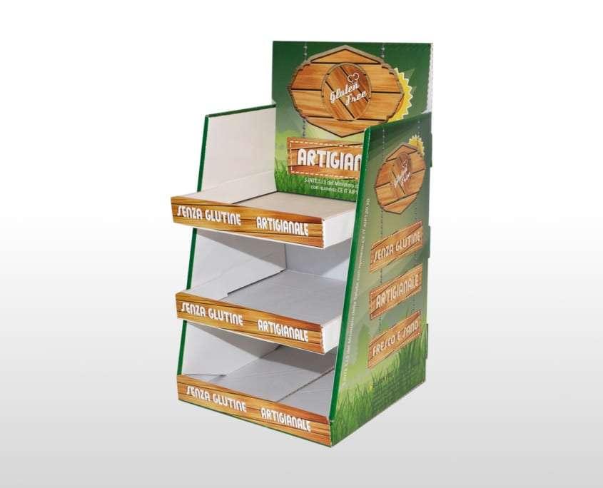 Espositore da banco biscotti in cartone Adaptive
