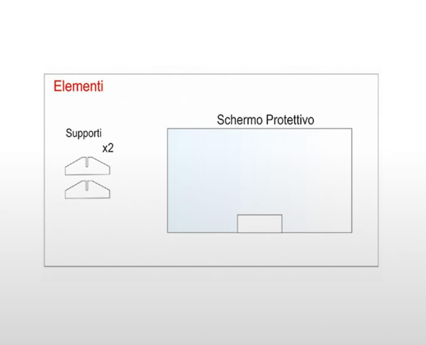 Barriere protettive in plexiglass trasparente