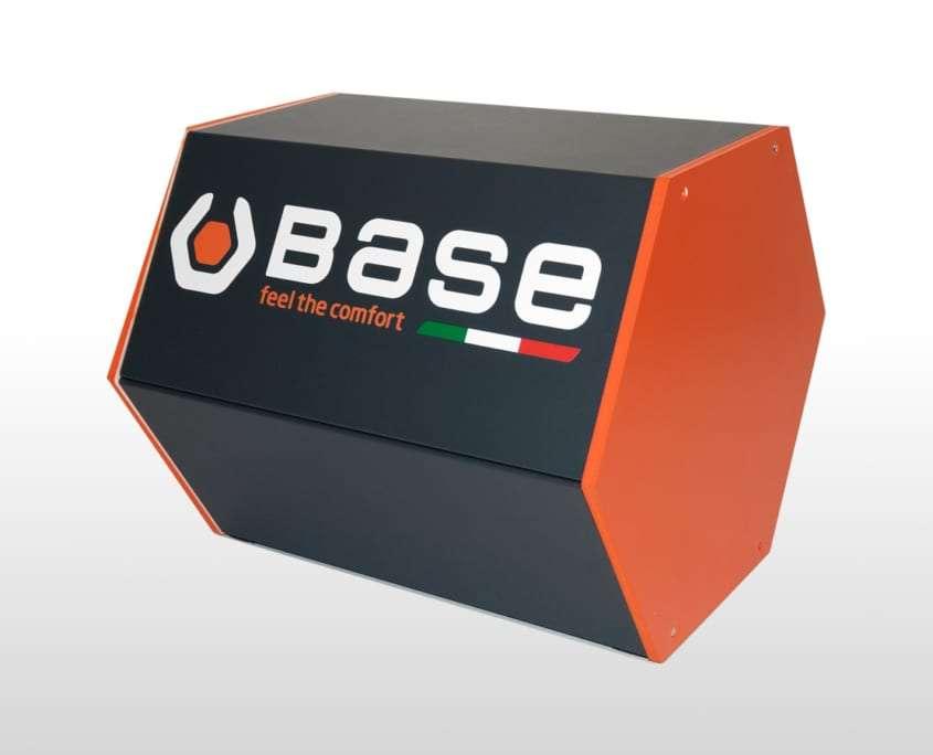 Panca esagonale in acciaio e PVC negozi Base Adaptive