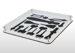 Porta forbici per farmacie in PVC e metacrilato trasparente Adaptive