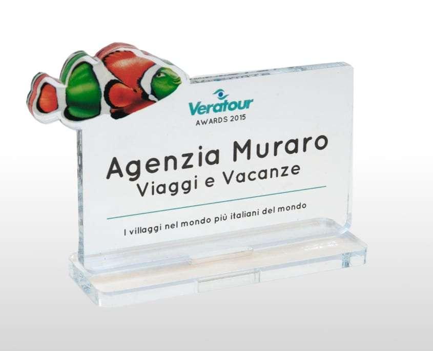 Targa premio per Agenzie Veratour Adaptive