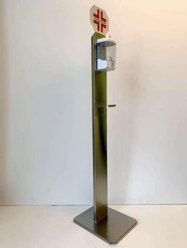 Dispenser in acciaio inox di sapone liquido da 700 ml con sensore per erogazione automatica